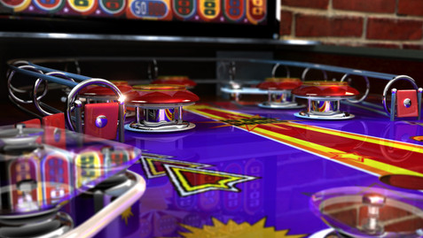 Pinball - Promo Art - Work: 3D modeling/texturing painting, lighting, rendering (Maya and Mental Ray), color correction, color grading and conversions.