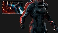 Mass Effects3 - Shepard - Character Look Development. Work: Shaders development, create materials - Posing exploration, environment, lighting and rendering