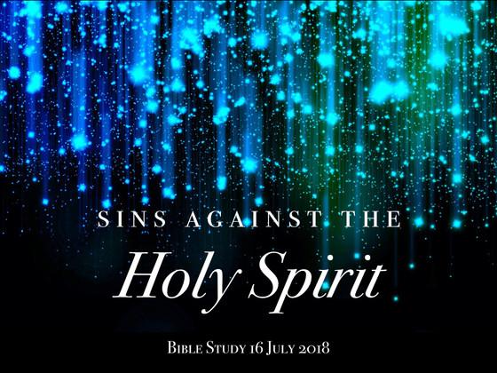 Sins against the Holy Spirit