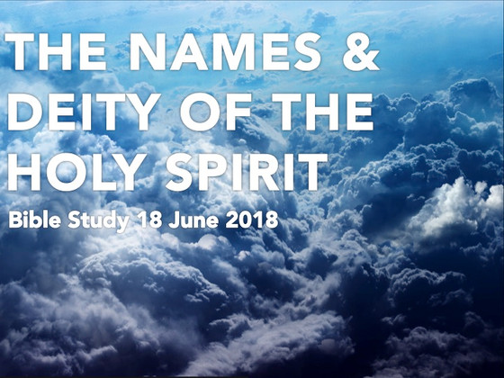 The Deity and Names of the Holy Spirit