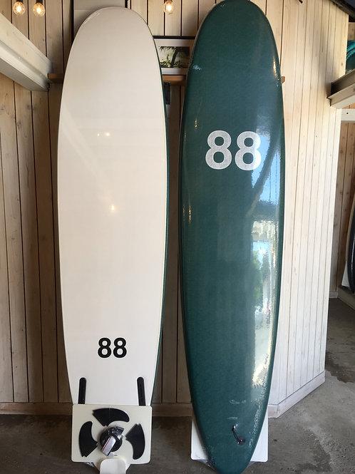 88surfbords 8'0olive/white/white LOGO