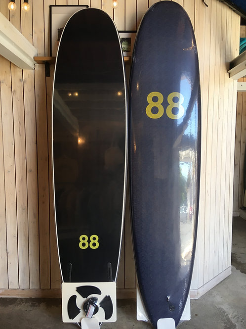 88surfbords 8'0navy/black/yellow LOGO