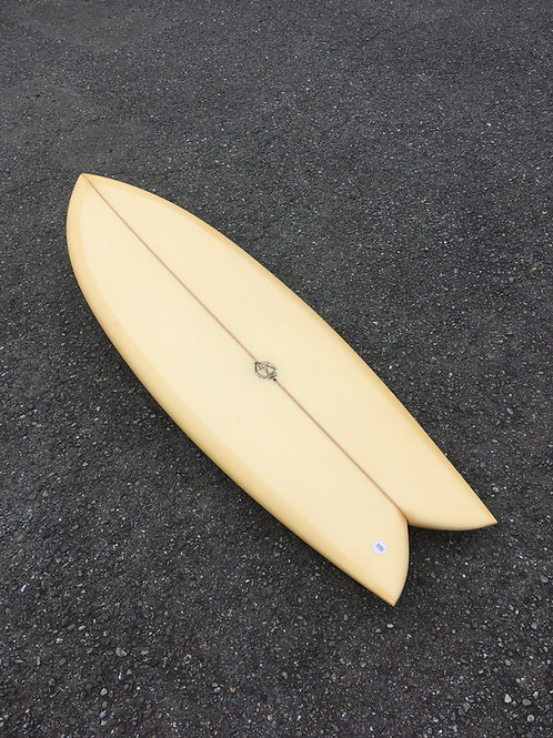 "PSYCHO CANDY 5'8×20 3/4×2 7/16""yellow"