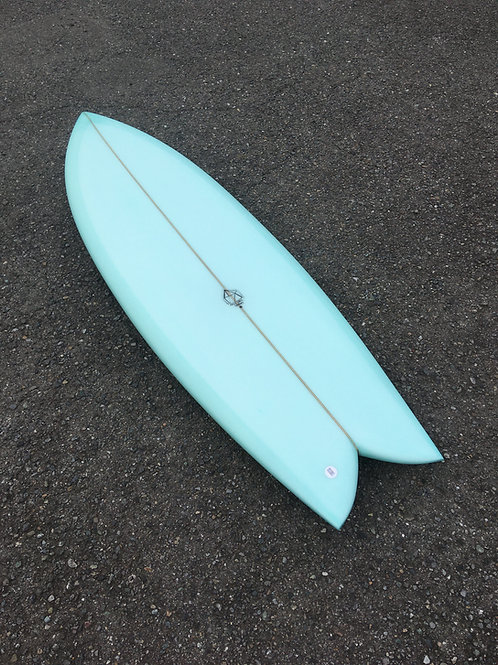 """PSYCHO CANDY 5'7×20 5/8×2 1/2""""green"""