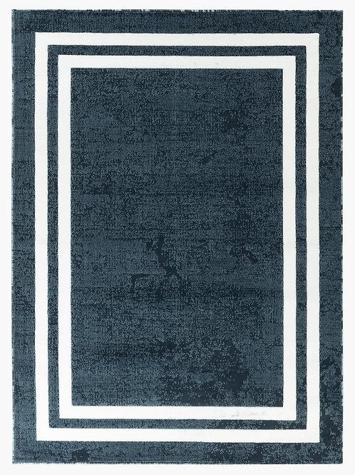 NEWPORT 68 BLUE WHITE BORDER RUG