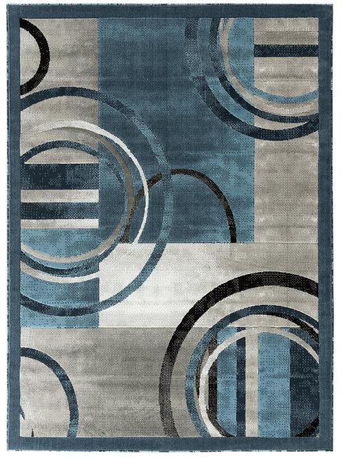 NEWPORT 51 GRAY BLUE MODERN ABSTRACT RUG