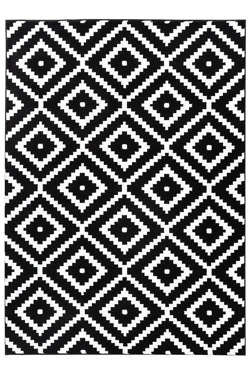 SUMMIT 46 BLACK WHITE GEOMETRIC AREA RUG