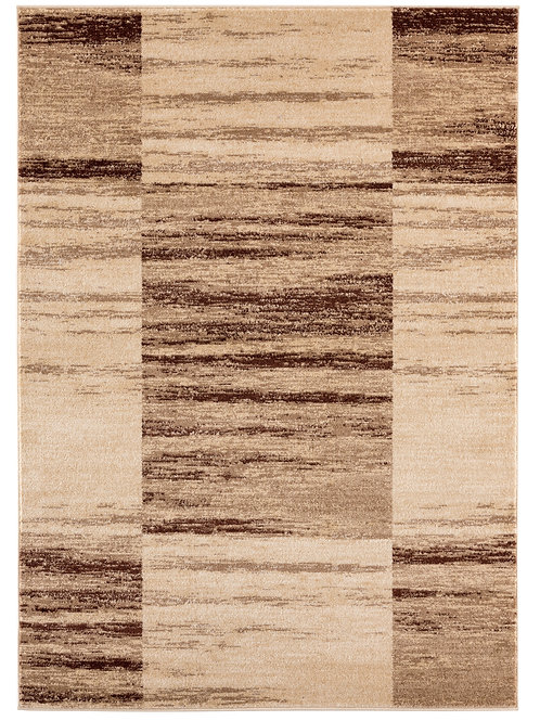 RIO 312 BEIGE BROWN MODERN ABSTRACT AREA RUG