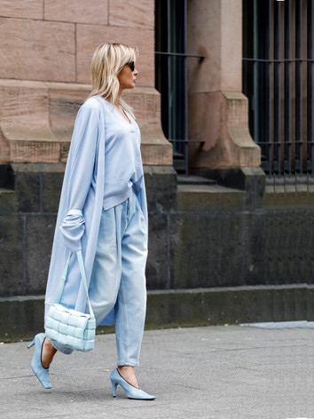 Long cardigan blue