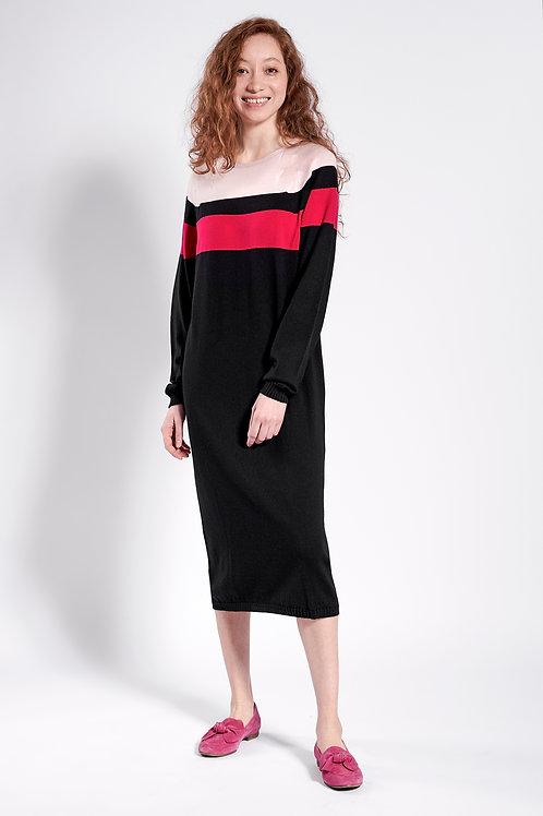 Pulloverkleid in schwarz