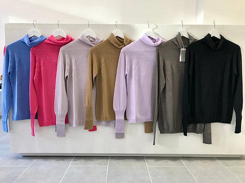 Turtleneck sweaters in many colors