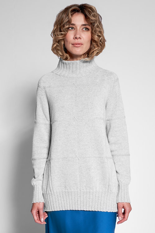 oversized pullover für damen in grau