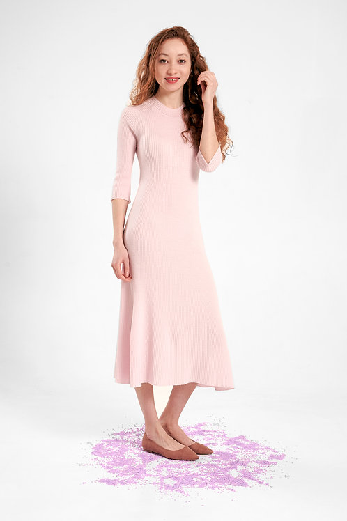 damen strickkleid rosa