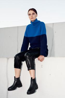 Blauer Pullover für Damen