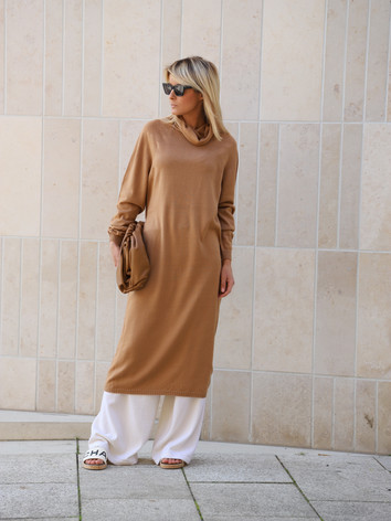 Merino wool midi dress