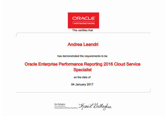 Qubico certifies for Cloud Narrative Reporting (EPRCS)