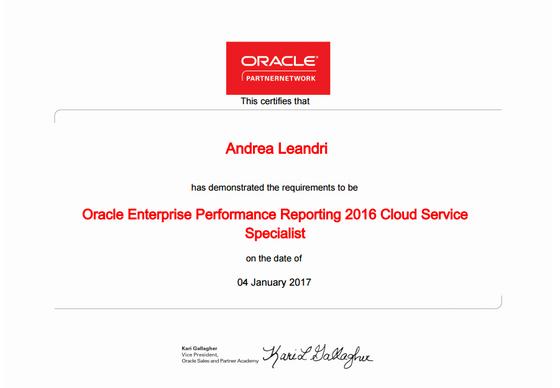 Qubico certifies for Cloud Narrative Reporting (EPRCS)