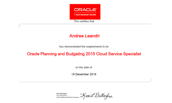 Qubico certified for Planning & Budgeting on Cloud