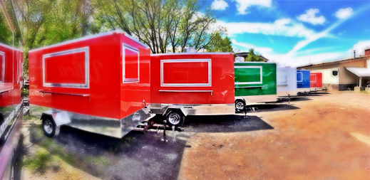 8' x 12' custom food trucks and trailers