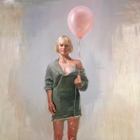 Girl with a pink ballon