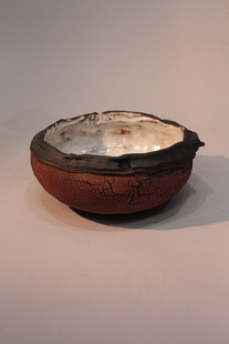 Balck white and red bowl form