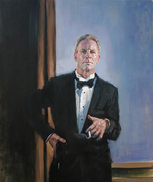 Self portrait after Beckmann