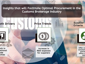 A Spend Growth of over USD 60 Billion for the Customs Brokerage Industry