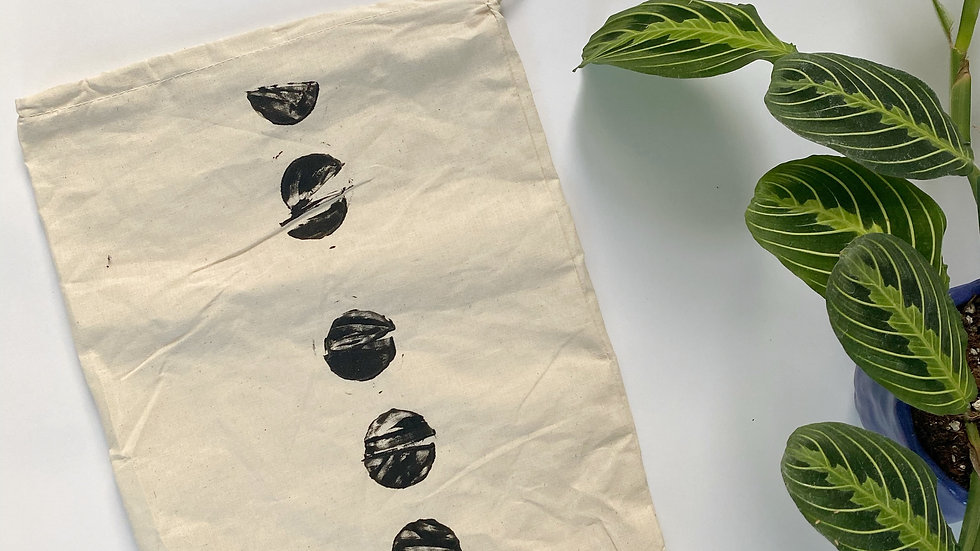 Stamped Linen Produce Bag