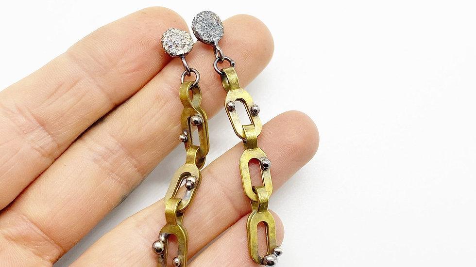 Lichen Chain Earrings