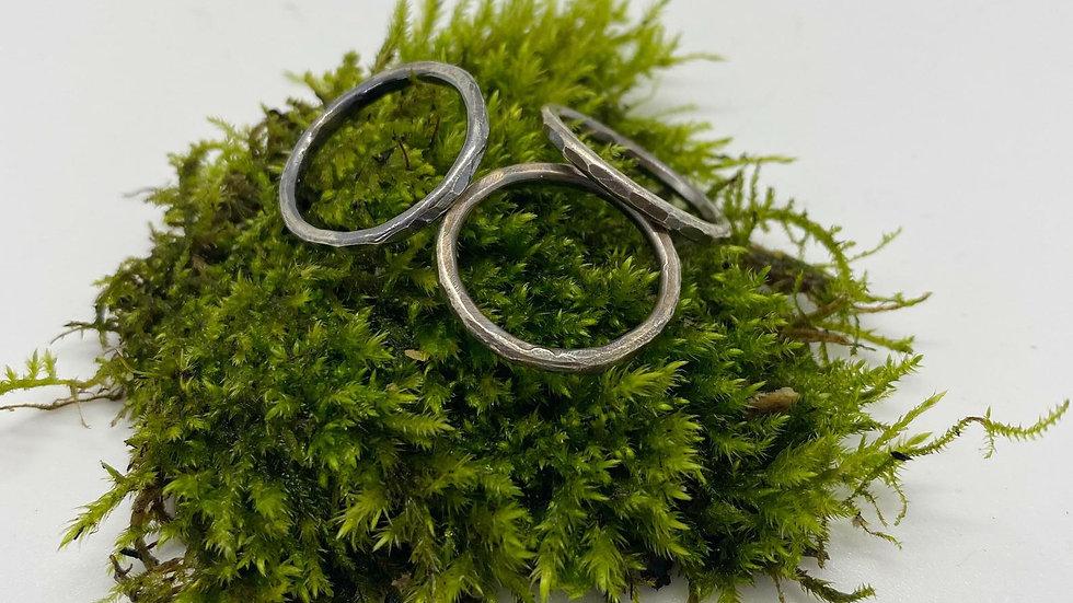 Elara Silver Stacking Rings