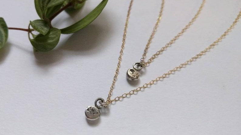 Lunar Stud Necklace
