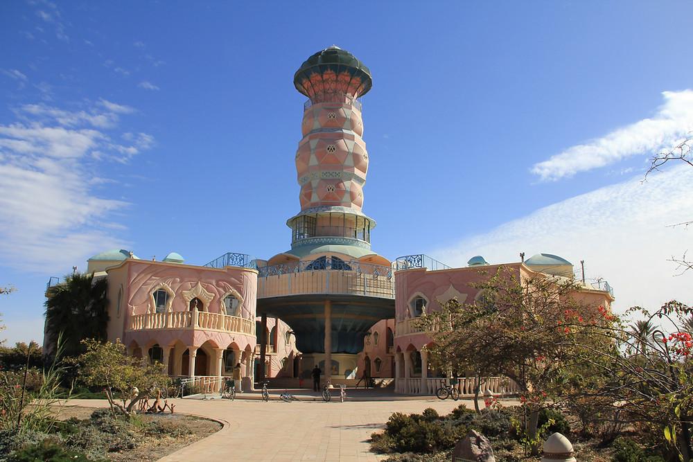 Art Center with cooling tower - Kibbutz Neot Semadar
