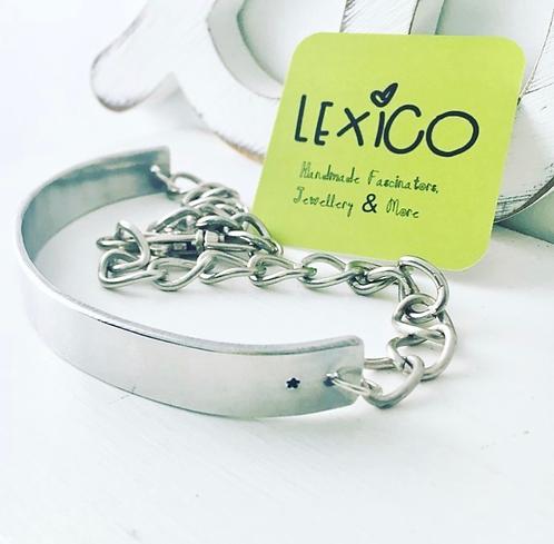 Aluminium choker bar necklace