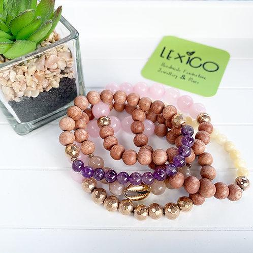 Rosewood & Crystal Healing Bracelet