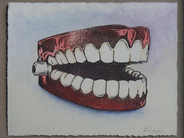 Painted Left Teeth