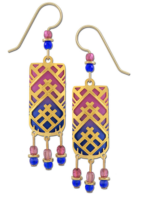 GP Triangular Design over Pink and Blue Ombre