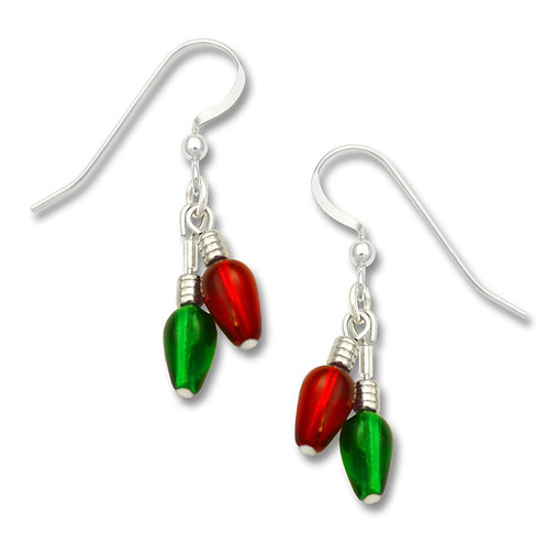 Beaded Red & Green Christmas Lights
