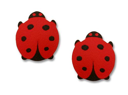 Painted ladybug posts