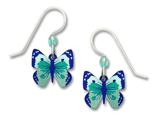 Turquoise & deep blue fantasy butterfly