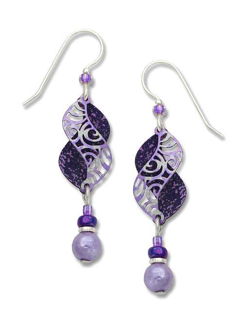 Violet/Purple Double Curves w/Bead Drop