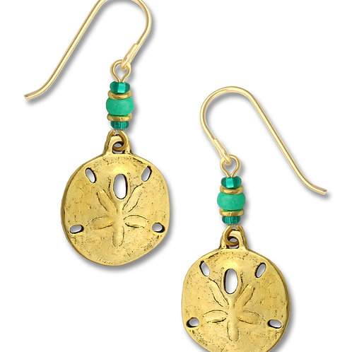 Antique Gold Plated Sand Dollar w/Beads