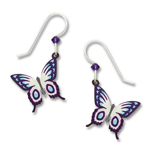 Violet, blue, white 3-D fantasy butterfly