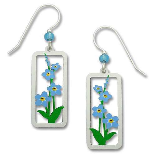 Forget-Me-Nots in Rectangle Frame