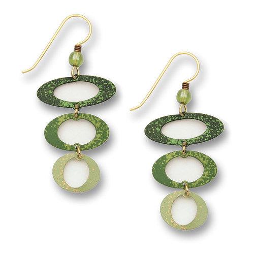 3 Green open ovals
