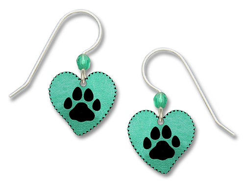 Turquoise Heart w/Paw Print
