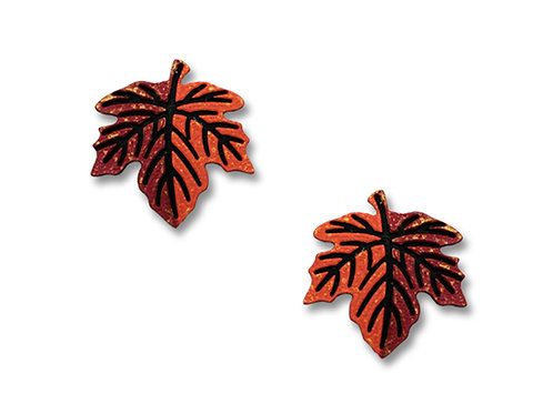 Autumn maple leaf post