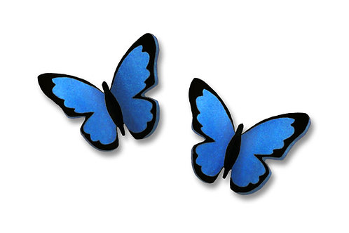 Small Folded Blue Morpho Butterfly - Post