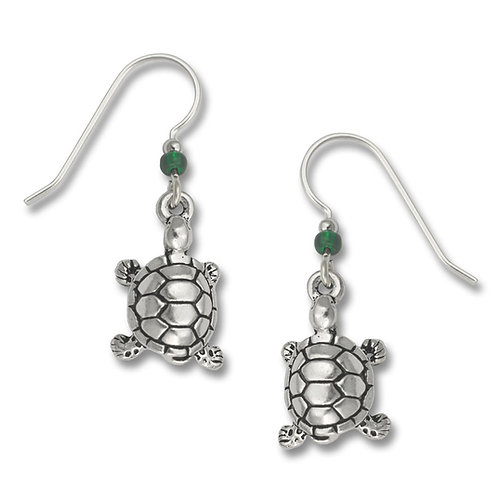 Turtle Charm, silver