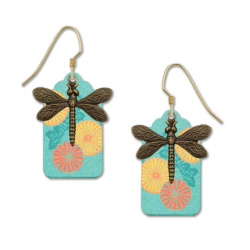Teal Pattern with Dragonfly Charm