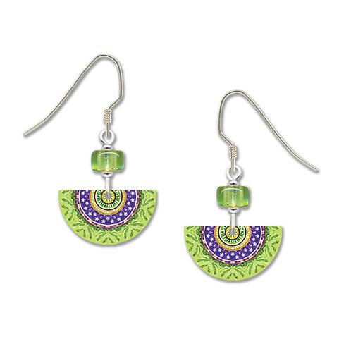 green and purple semi cir